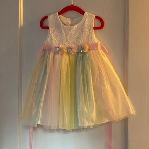 Toddler Easter Dress with Flowers 2T